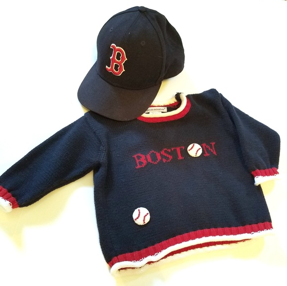 12 month Boston Red Sox Sweater   Baseball Hat. M 5b6b926b12cd4aeee2d536c3 b7cd64be753